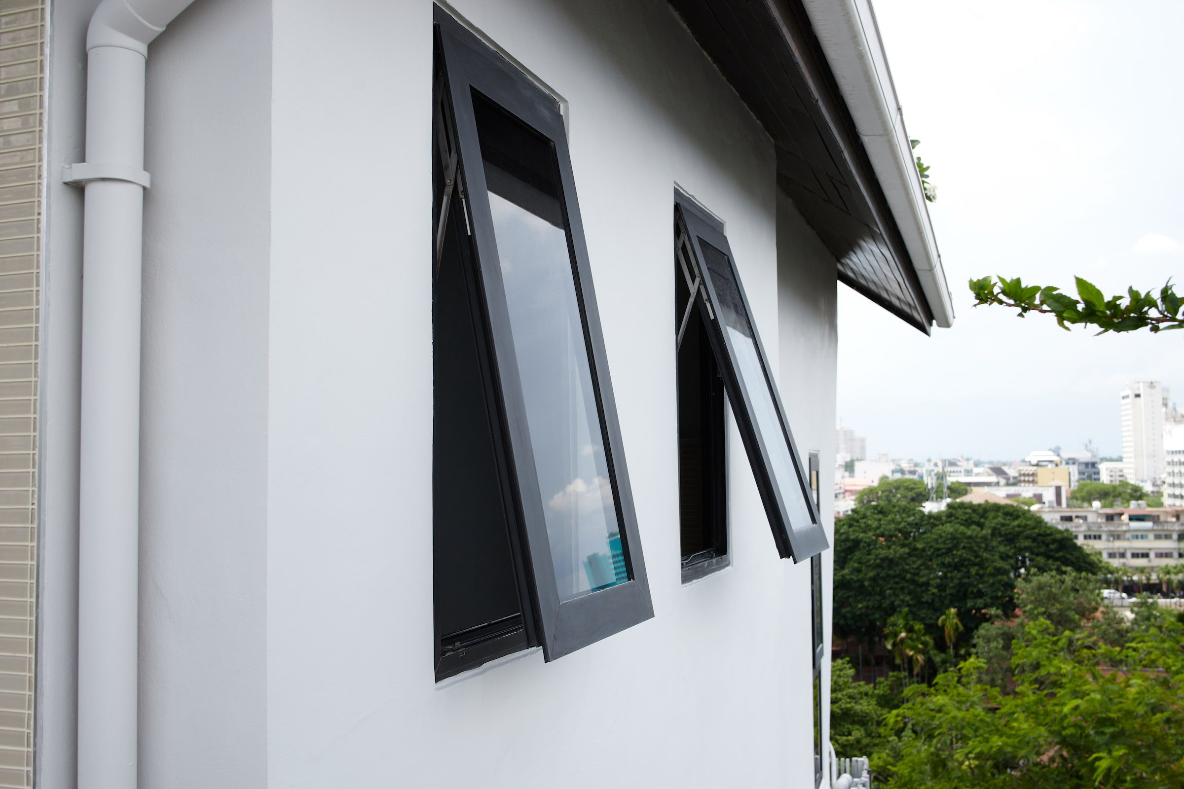 newly fitted windows in a modern house