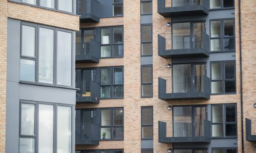 aluprof uk doors and windows in a new apartment building