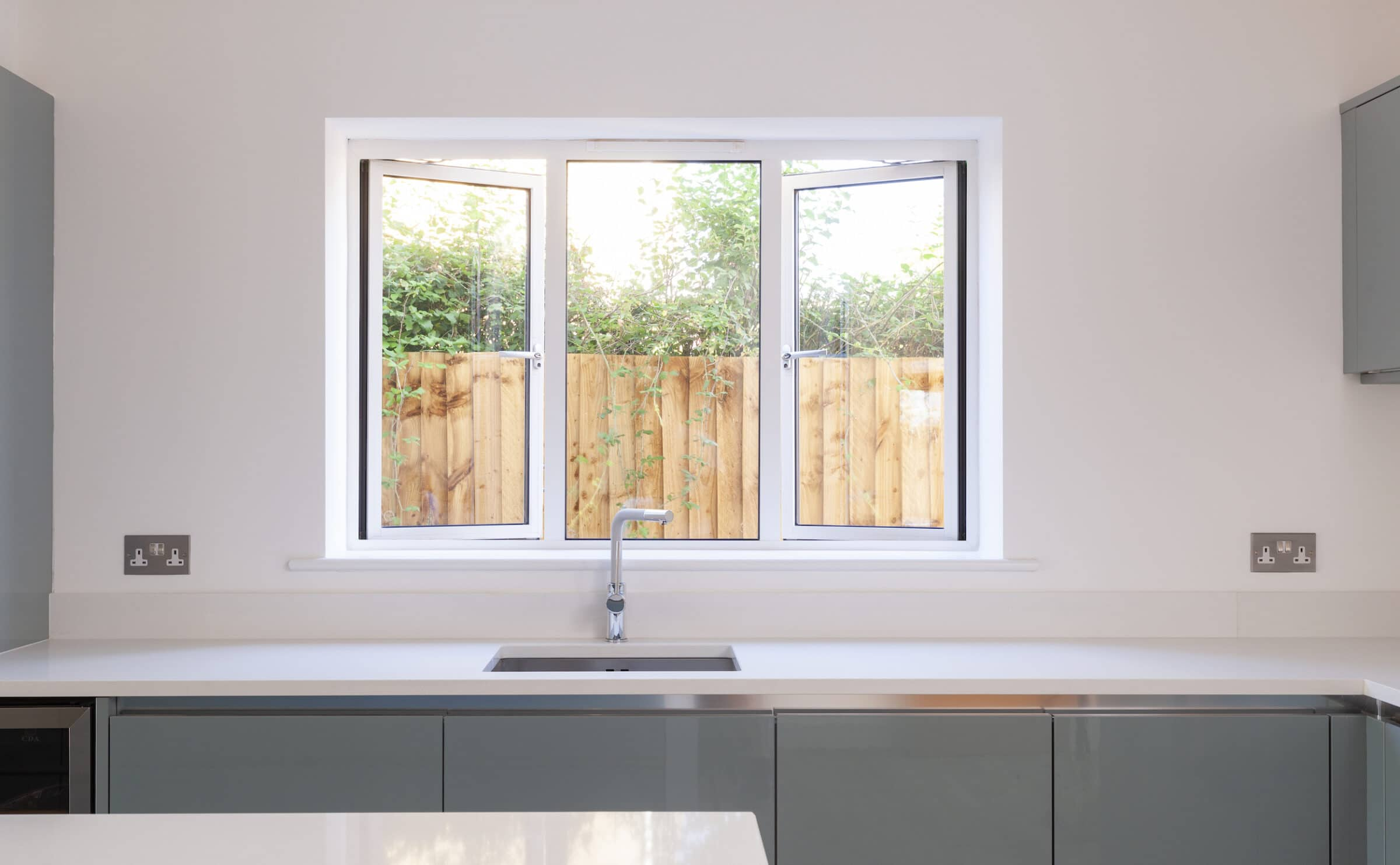 secured by design windows in a white colour in a new home