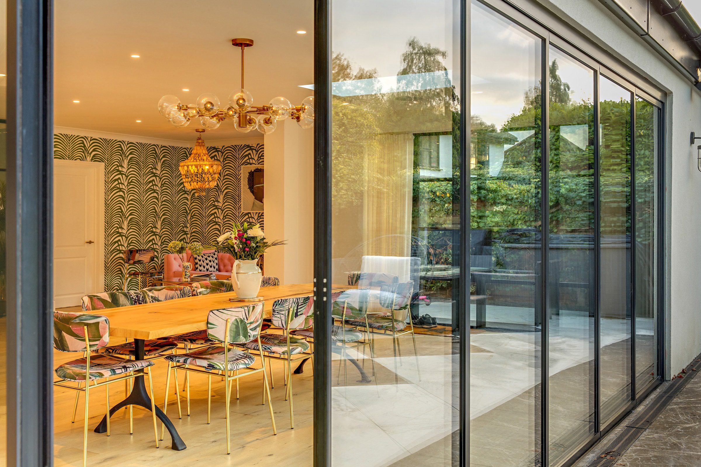 slide and stack bifold patio doors in a new extension