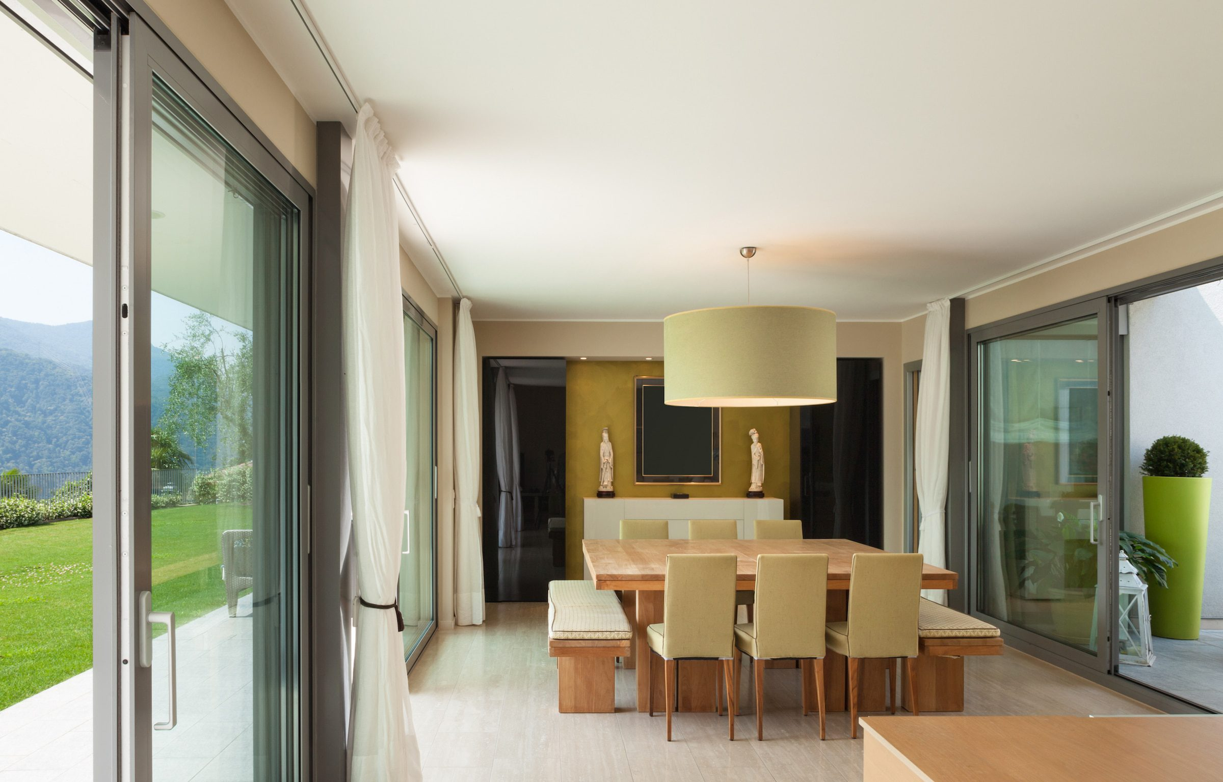 hybrid windows and doors in a luxury lounge setting